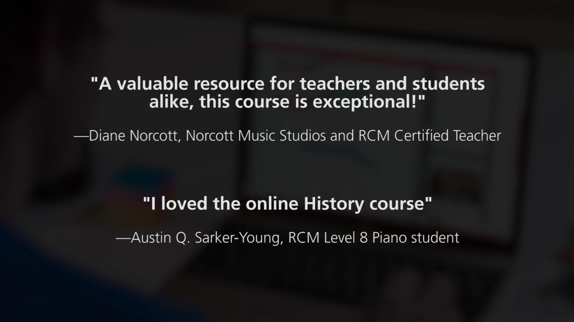 screenshot of online course